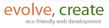 evolve, create: eco-friendly web development
